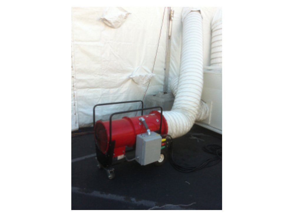 60KW Electric Heaters for temporary events
